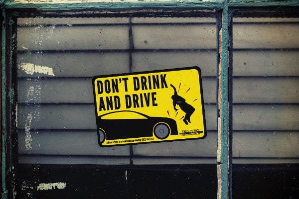 Waarschuwing voor boete bij rijden onder invloed